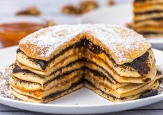 Csúsztatott palacsinta Breakfast Lunch Dinner, Best Breakfast, Crepe Cake, Mille Crepe, Hungarian Recipes, Cookie Recipes, Peanut Butter, Pancakes, Favorite Recipes