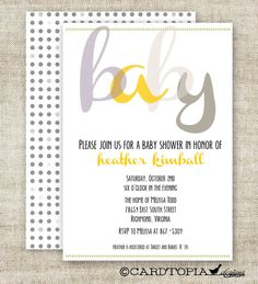 GENDER REVEAL PARTY Baby Shower Invitations by CardtopiaDesigns, $14.25