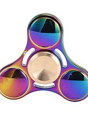 Amazing quality 2017 new Fashion Elfin Rainbow Metal Fidget Spinner Tri-Spinner Hand Spinner Toy EDC Sensory for Autism and ADHD Kids/Adult Funny Anti Stress Toy For Decompression Anxiety Office Stress Relief Rainbow Fidget Spinner, Cool Fidget Spinners, Metal Fidget Spinner, Stress Toys, Stress Relief Toys, Anxiety Relief, Figit Spinner, Hand Fidgets, Rainbow Metal