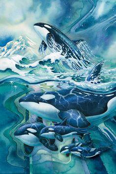 """Orca Salish Sea Marine Sanctuary 2"" par Jody Bergsma"