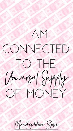 Money Affirmation for everyday!