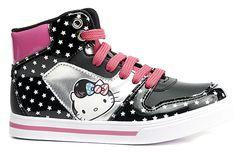 Hello Kitty, Lenkkarit, joissa täpliä, Musta/Hopea, koko 29. 18,45 €