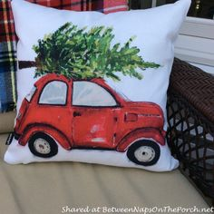 Decorate the Porch in Tartans and Plaids for Christmas