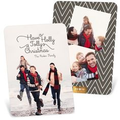 Holiday Photo Cards -- Familiar Verses Vertical | Pear Tree Greetings