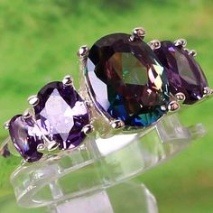 WY Wholesale Lovely Vogue Oval Cut back Mystic Rainbow Topaz Amethyst Silver Ring Measurement 6 7 eight 9 10 11 12 13 New Comes Glowing - Silver Jewellery 925 - SHOP NOW