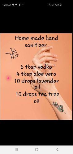 Home Made Hand Sanitizer, Lavender Oil, Tea Tree Oil, Aloe Vera, Vodka, Homemade, Diy, Blog, Get Well Soon