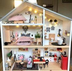 Ikea dollhouse with Lidl furniture and sonny angel - Basteln gestalten - Doll House
