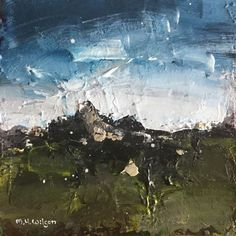 Stormy Carl Wark 1 - Acrylic on Canvas Board Cityscape Art, Canvas Board, Sheffield, Landscape Paintings, Abstract Art, Spaces, Frame, Picture Frame, Landscape