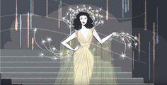 Il #doodle che vediamo oggi sulla home di #Google è dedicato all'attrice e inventrice #HedyLamarr in occasione dei 101 anni dalla nascita.