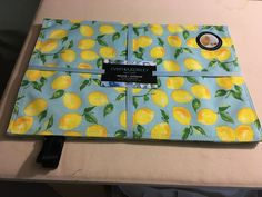 Cynthia Rowley Indoor/Outdoor Lemons on Aqua Placemats set of 4 X New! Cynthia Rowley, Indoor Outdoor, Aqua, Box, Prints, Water, Snare Drum, Boxes, Printed