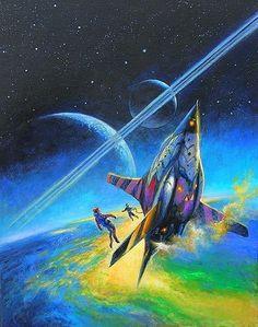 BOB EGGLETON (American, b. The Sagan Diary, book cover, 2007 Oil on canvas board 18 x 14 in. 70s Sci Fi Art, Arte Tribal, Classic Sci Fi, Alien Worlds, Retro Futuristic, Universe Art, Science Fiction Art, Sci Fi Fantasy, Space Fantasy