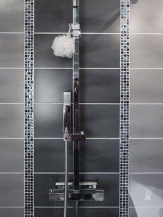 Tile bathrooms 320600067215432578 - Salle de bains Gris / Argent SENSEA Source by alimkeit