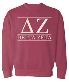 DZ Delta Zeta Inside Out Oversized Sorority Sweatshirt riGE1hX