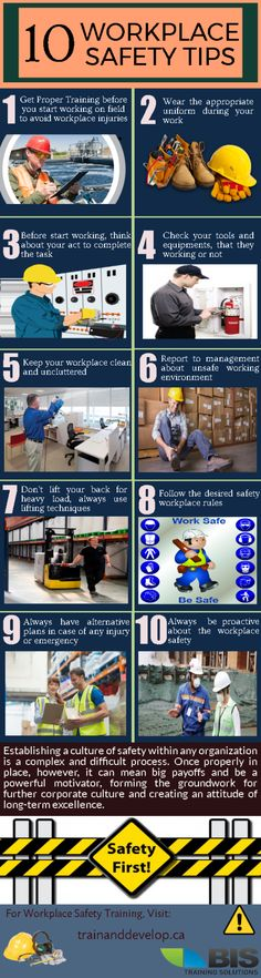 This #infographic focuses on the workplace safety rules. For more #safety #tips, take a look at this infographic by BIS Training Solutions