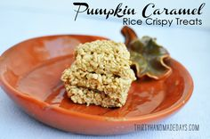 Pumpkin Caramel Rice Crispy Treats