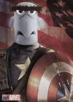 Los Muppets (The Muppets, 2011): parodia Capitán América