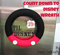 Count Down to Disney Wreath
