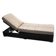 Outdoor Teva Patio Santa Monica Wicker Rattan Patio Chaise Lounge With Sunbrella Fabric - 105CLSUNHARCRIM