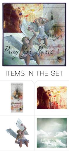 """""""Pray for Paris"""" by amelie-poutain ❤ liked on Polyvore featuring art and country"""