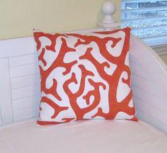 Dermond Peterson Coral Reef Design in Orange by SewSusieDesigns, $34.00