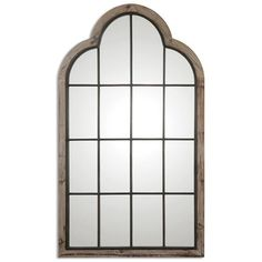 This Impressive, Oversized Arch Mirror Is Made Of Lightly Burnished, Reclaimed Pine With A Gray Wash And Wrought Iron Details.Lightly Burnished Reclaimed Pine With A Gray Wash And Wrought Iron Details. Leaning Floor Mirror, Arch Mirror, Round Wall Mirror, Mirror Set, Wall Mounted Mirror, Mirror Glass, Floor Mirrors, Window Mirror, Wood Mirror