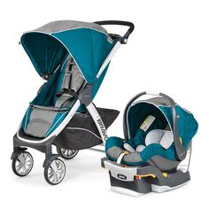 Amazon.com : Chicco Bravo Trio Travel System, Polaris : Baby