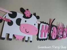 Down on the Farm Girl Birthday Party Banner Cow Birthday Parties, Cowgirl Birthday, Cowgirl Party, Farm Birthday, Girl Parties, Barnyard Party, Farm Party, Second Birthday Ideas, Alice