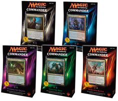 Magic The Gathering Commander 2015 brings 5 new enemy-colored preconstructed decks to the widely popular multiplayer format, Commander!