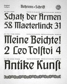 Behrens-Schrift, 1902