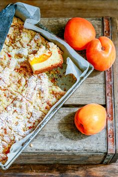 From The Kitchen: Apricot Crumble Slab Cake