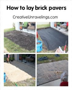 Tutorial on how to lay brick pavers. Visit CreativeUnravelings.com