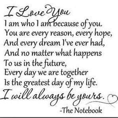 Romantic Quotes From The Notebook - Profile Picture Quotes