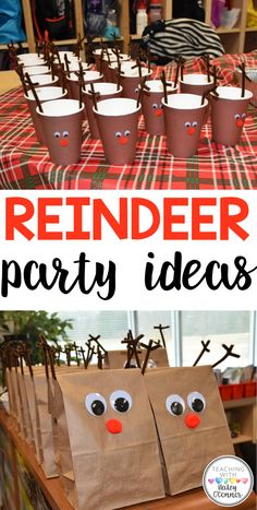 Classroom Reindeer Party Ideas - Reindeer Party Ideas for Winter Classroom Party - School Christmas Party, Christmas Party Ideas For Teens, Adult Christmas Party, Christmas Party Themes, Xmas Party, Christmas Activities, Christmas Holiday, Christmas Tables, Nordic Christmas