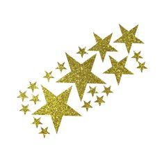 20 Glitzer Sterne im Set zum Aufbügeln (lassen sich auch einzelnd aufbügeln :-) Die Glitzer Bügler werden genau wir die Velourdrucke aufgebügelt ...