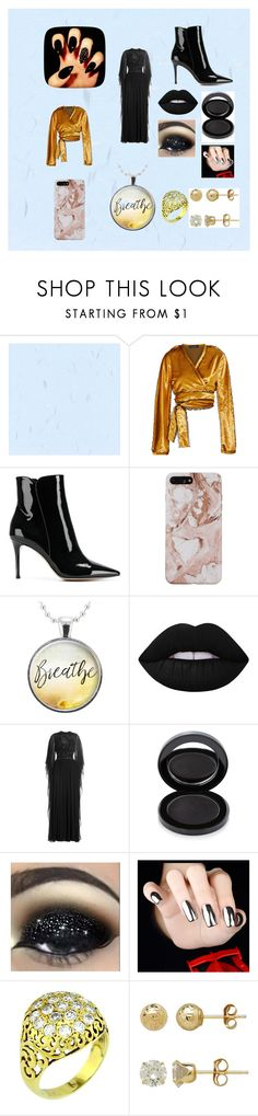 """""""black ballgown for balls"""" by lydia-kelly-redwood on Polyvore featuring Sid Neigum, Gianvito Rossi, Lime Crime, Elie Saab, Lipstick Queen and Everlasting Gold"""