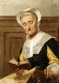 An Elderly Lady Reading. Nicolaas van der Waay (Dutch, 1855-1936).