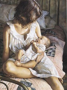 """""""In the Eyes of the Innocent"""" by Steve Hanks, an artist from California who is recognized as one of the best watercolor artists working today. The detail & realism of his paintings are virtually unheard of in this difficult medium. Many of his works have been inspired by his wife & 3 children."""