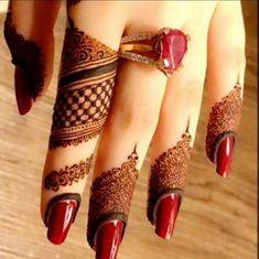 Beautiful finger tips mehndi design. Kashee's Mehndi Designs, Finger Henna Designs, Mehndi Design Pictures, Wedding Mehndi Designs, Mehndi Designs For Fingers, Henna Tattoo Designs, Mehndi Images, Wedding Henna, Fingers Design