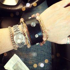WobiSobi: Wire and Crystal Bangle Bracelets, DIY