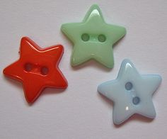 "Nashville+Cotton:+Star+2-Hole+Buttons,+5/8"",+Fiesta,+Mint,+Baby+Blue+"