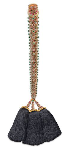 Ganjam 'jadai bangara' (braid ornament) from the Ganjam family archives of the Heritage collection, designed to decorate long plaited hair.