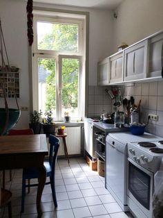 Schöne Küche in Frankfurter Altbau im Stadtteil Nordend-West.  Wohnen in Frankfurt.  #Frankfurt #Wohneindrücke #Main #kitchen #Küche