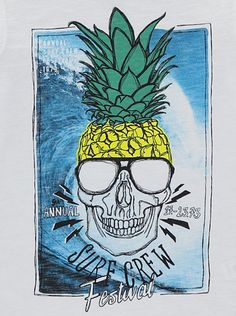 Skull Pineapple T-shirt, read reviews and buy online at George at ASDA. Shop from our latest range in Kids. Let their personality shine…
