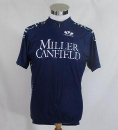 Voler Men Short Sleeve Bike Cycling Jersey100% Polyester 3/4 Zip L Blue Race Fit #VOLER