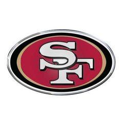 San Francisco 49ers Official NFL Auto Emblem by Team Promark 634266, Multicolor