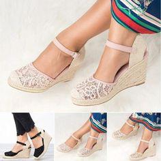 987bf43263d3 Sandals - 2018 Women s Fashion Vintage Gladiator Wedge Sandals – Kaaum  Sandals 2018