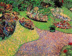 Vincent van Gogh. Garden in Auvers.  Oil on canvas.  Auvers-sur-Oise: June-July, 1890.  Paris: Collection Pierre Vernes and Edith Vernes-Karaoglan.