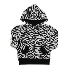 White Hoodie - Zebra Print