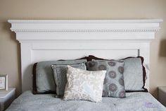 DIY Furniture : DIY Mantel Molding Headboard