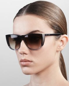 Oversized Ombre Sunglasses, Gray Yellow by Marc Jacobs at Bergdorf Goodman.